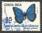 Stamps Costa Rica -   Morpho peleides (1494)