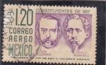 Stamps : America : Mexico :  constituyentes-León Guzman y Ignacio Ramirez