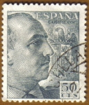 Stamps Europe - Spain -  General Franco y Escudo
