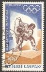 Sellos del Mundo : Africa : Gabón : Olimpiadas de México 68, judo