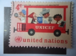 Stamps United States -  UNICEF -United Nations.
