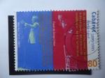 Sellos de Europa - Holanda -  Músico Wim Kan 1911-1983 y Freek Jonge 1944...