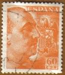 Stamps Spain -  General Franco y Escudo