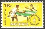 Sellos del Mundo : Africa : Nigeria : 279 - Juegos deportivos africanos, en Lagos, tenis de mesa