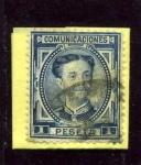 Stamps Spain -  Alfonso XII. Filigrana Castillo
