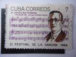 Sellos de Europa - España -  II Festival de la Canción 1966-Pianista:Jorge Anckermann(1877-1941) Jorge Anckermann.