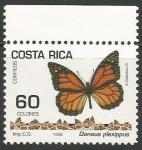 Sellos de America - Costa Rica -  Danaus plexippus (1502)