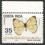 Sellos de America - Costa Rica -  Ascia monuste (1497)