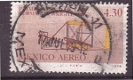 Sellos de America - México -  primer vuelo herm. wright