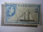 Stamps Barbados -  Isabel II - Inter Colonial Schooner.