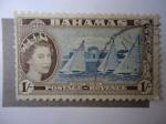 Stamps Bahamas -  Isabel II - Yacht Racing.