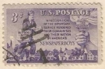 Sellos de America - Estados Unidos -  Homenaje a repartidores de periódicos (824)