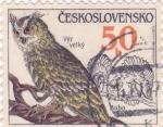 Sellos de Europa - Checoslovaquia -  Buho