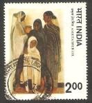 Sellos de Asia - India -  554 - Pintura de Amrita Sher Gil
