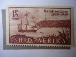Stamps : Africa : South_Africa :  Natal-setlaars 1849-1949.
