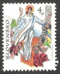 sello : Europa : Eslovaquia : 256 - La Resurrección de Cristo