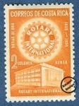 Sellos de America - Costa Rica -  Cincuentenario del Rotary Internacional