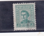 Stamps Uruguay -  General José Artigas