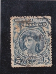 Stamps Uruguay -  joven mujer