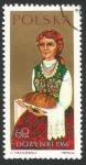 Sellos de Europa - Polonia -  Mujer con un bollo de pan (1668)
