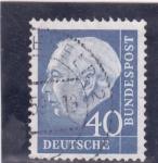 Stamps Germany -  presidente Theodor Heuss