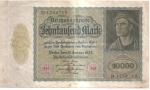 monedas del Mundo : Europa : Alemania :  billete anverso