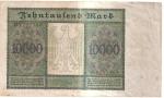 monedas del Mundo : Europa : Alemania :  billete reverso