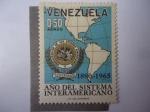 Sellos de America - Venezuela -  Año del Sistema Interamericano 1890-1965.