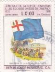 Stamps Honduras -  bandera de la colina de Bunker