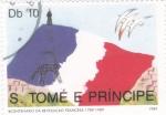 Sellos de Africa - Santo Tomé y Principe -  bicentenario revolución francesa 1789-1989