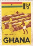 Sellos de Africa - Ghana -  indústria maderera
