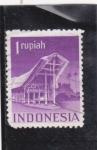Stamps Indonesia -  ediificio