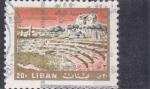 Sellos de America - Líbano -  ruínas