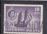 Stamps : Asia : Singapore :  Isabel II