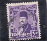 Stamps : Africa : Egypt :  rey Faruk