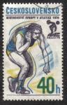 Sellos del Mundo : Europa : Checoslovaquia : MS v lehké atletice - koule