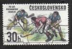 Sellos del Mundo : Europa : Checoslovaquia : 70 Años de hockey