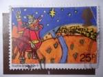 Stamps United Kingdom -  Navidad - Los reyes Magos y la Estrella.
