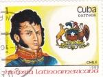 Stamps Cuba -  B.OHiggins-História latinoamericana