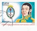 Stamps Cuba -  J.San Martín-História latinoamericana