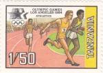 Sellos de Africa - Tanzania -  olimpiada de Los Angeles
