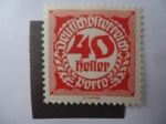 Stamps Austria -  Cifras.