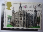 Stamps : Europe : United_Kingdom :  Tower of London - The White Tower - Torre de Londres.
