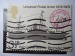 Sellos de Europa - Reino Unido -  Universal Postal Union 1874-1974- PyO Packet Steamer Peninsular 18880.