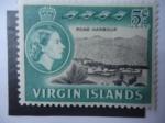 Stamps United Kingdom -  Reina Isabel II-Virgin Islands - Roah Harbour-Islas Virgenes Británicas.