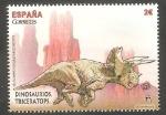 Stamps Spain -  Dinosaurio
