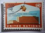 Stamps : America : ONU :  Universal Postal Union-Headquarters Bern, Switzerland - United Natios.