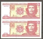 monedas del Mundo : America : Cuba :  Billete de Che Guevara
