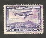 Stamps : America : El_Salvador :   9 - Avión sobrevolando El Salvador