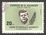 Stamps : America : El_Salvador :  192 - Anivº de la muerte del Presidente John F. Kennedy